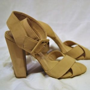 BAMBOO Heels with Ankle Strap